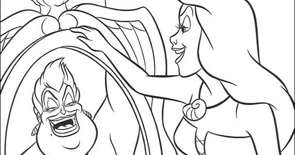 kids page  ursula little mermaid coloring pages