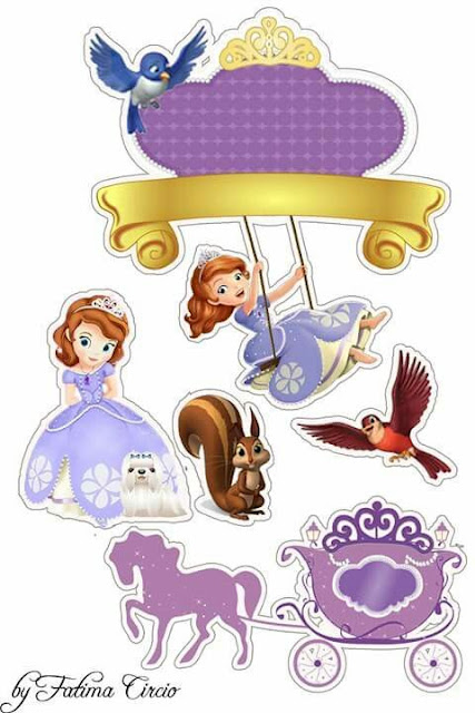Sofia the First Free Printable Cake Toppers Oh My Fiesta! in english