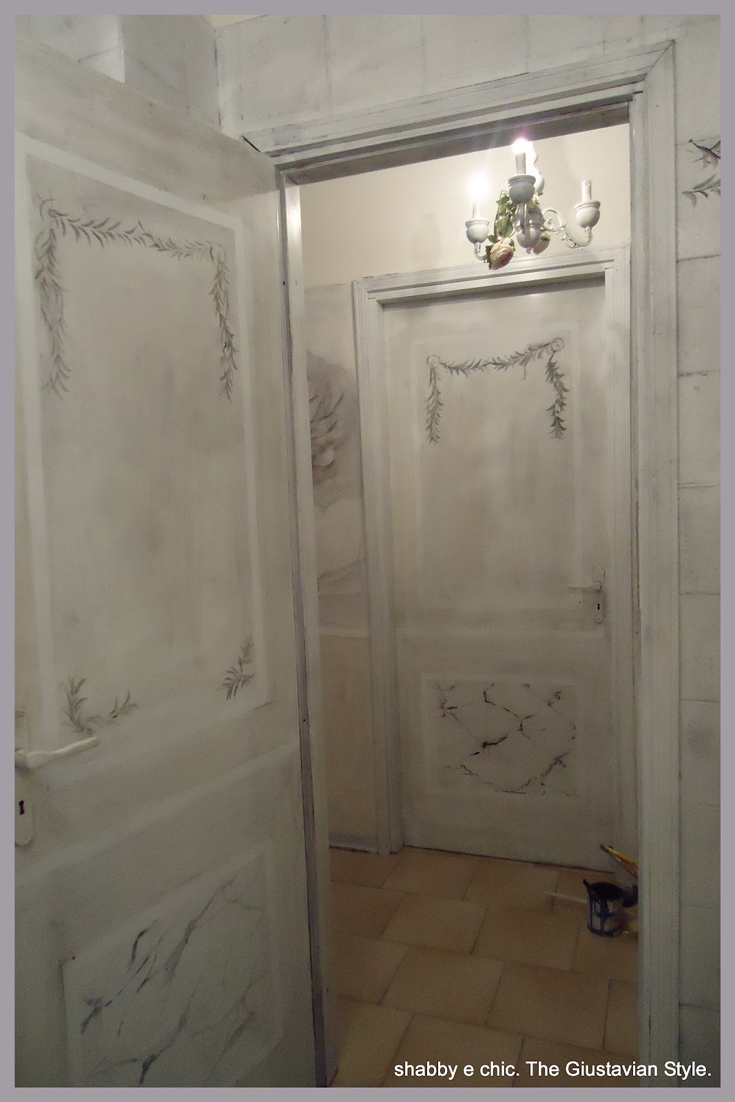 Marzia sofia salvestrini atelier gustavien ricetta come trasformare le porte di casa con un - Come verniciare porte interne ...