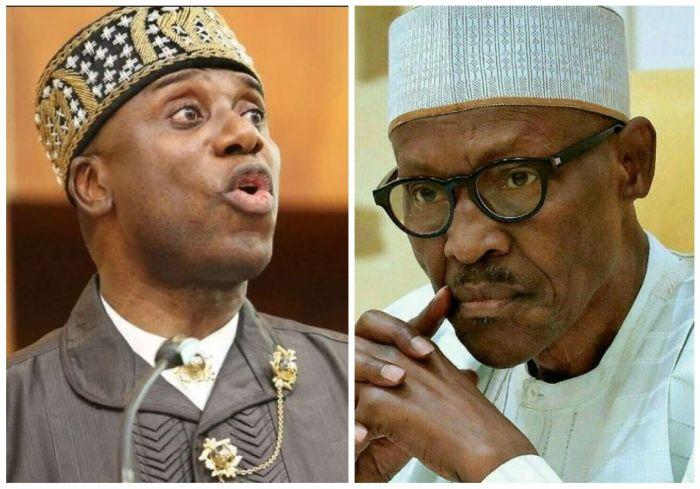 Reno shares sound clasp claiming Amaechi said awful thing regarding Buhari