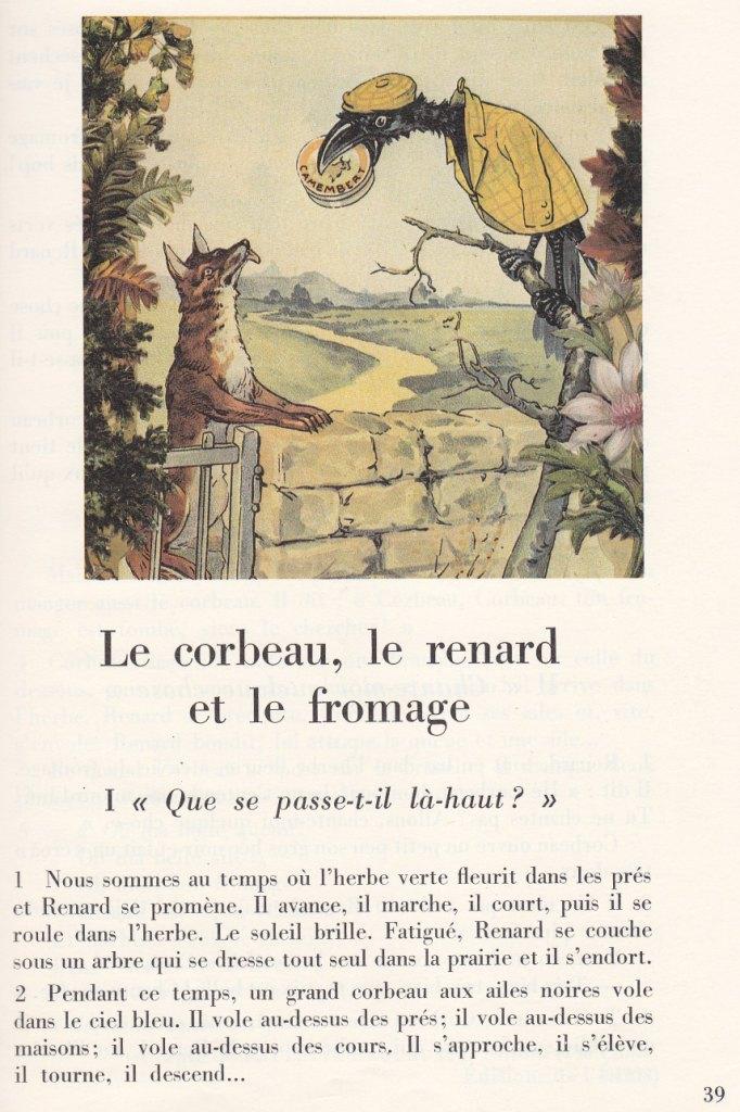 école Références Le Corbeau Le Renard Et Le Fromage Paulette