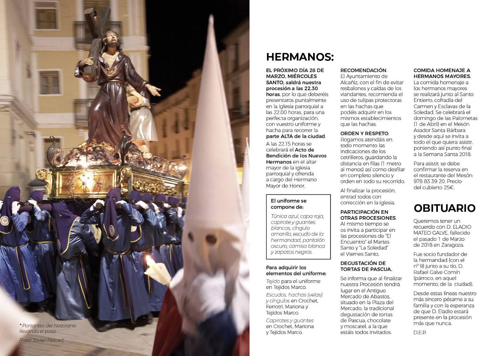 Hermandad de Jesús Nazareno: Folleto 2018