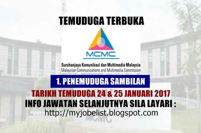 Temuduga Terbuka di Suruhanjaya Komunikasi Dan Multimedia Malaysia (SKMM) Januari 2017