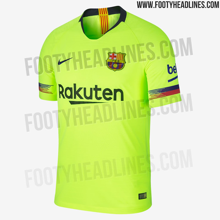 hot sale online 69f68 3b238 FC Barcelona 18-19 Away Kit Released - Footy Headlines