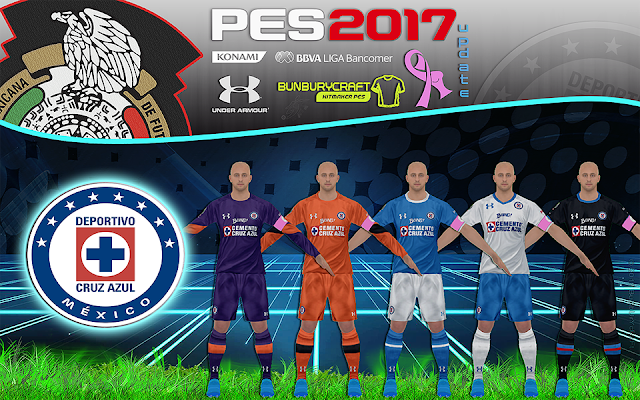 PES 2017 Update Kitset Cruz Azul Liga MX Temporada 2016-17 By BuNbUrYcRaFt