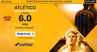 betfair supercuota 6 Atletico gana Granada Liga 11 marzo
