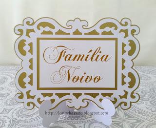Placa Família Noivo