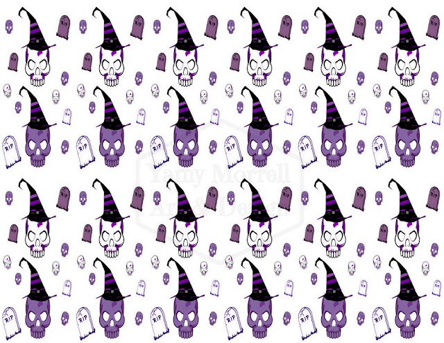 Halloween-white-purple-skull-pattern-design-by-yamy-morrell
