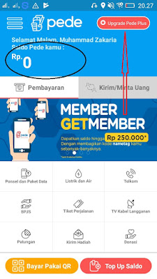 cara verifikasi akun di aplikasi Pede Android