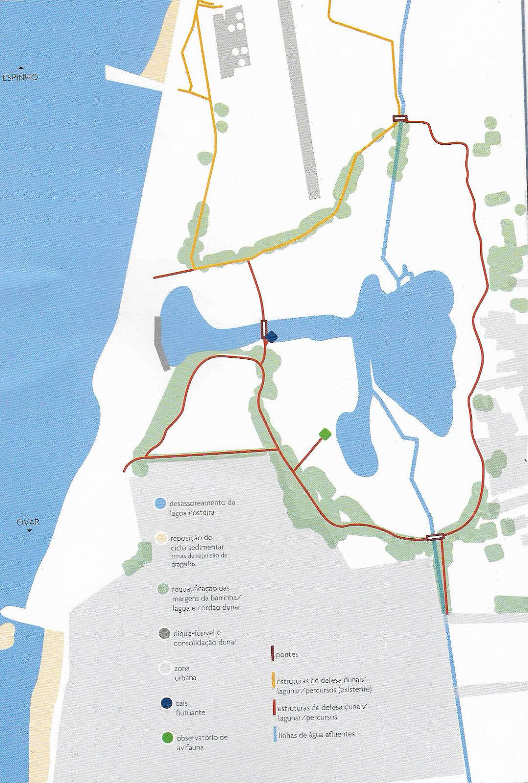 esmoriz mapa As cusquices de Esmoriz: Derradeiras novidades do Projecto da Barrinha esmoriz mapa