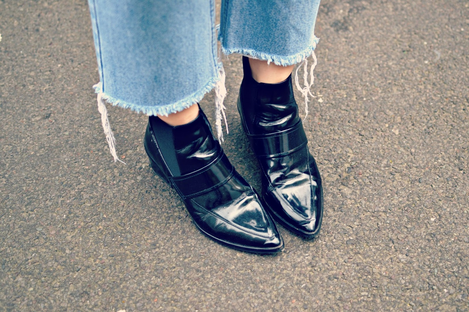 vintage levis jeans, Whistles ankle boots