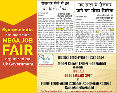 SynapseIndia participated in Mega Job fair at DEE