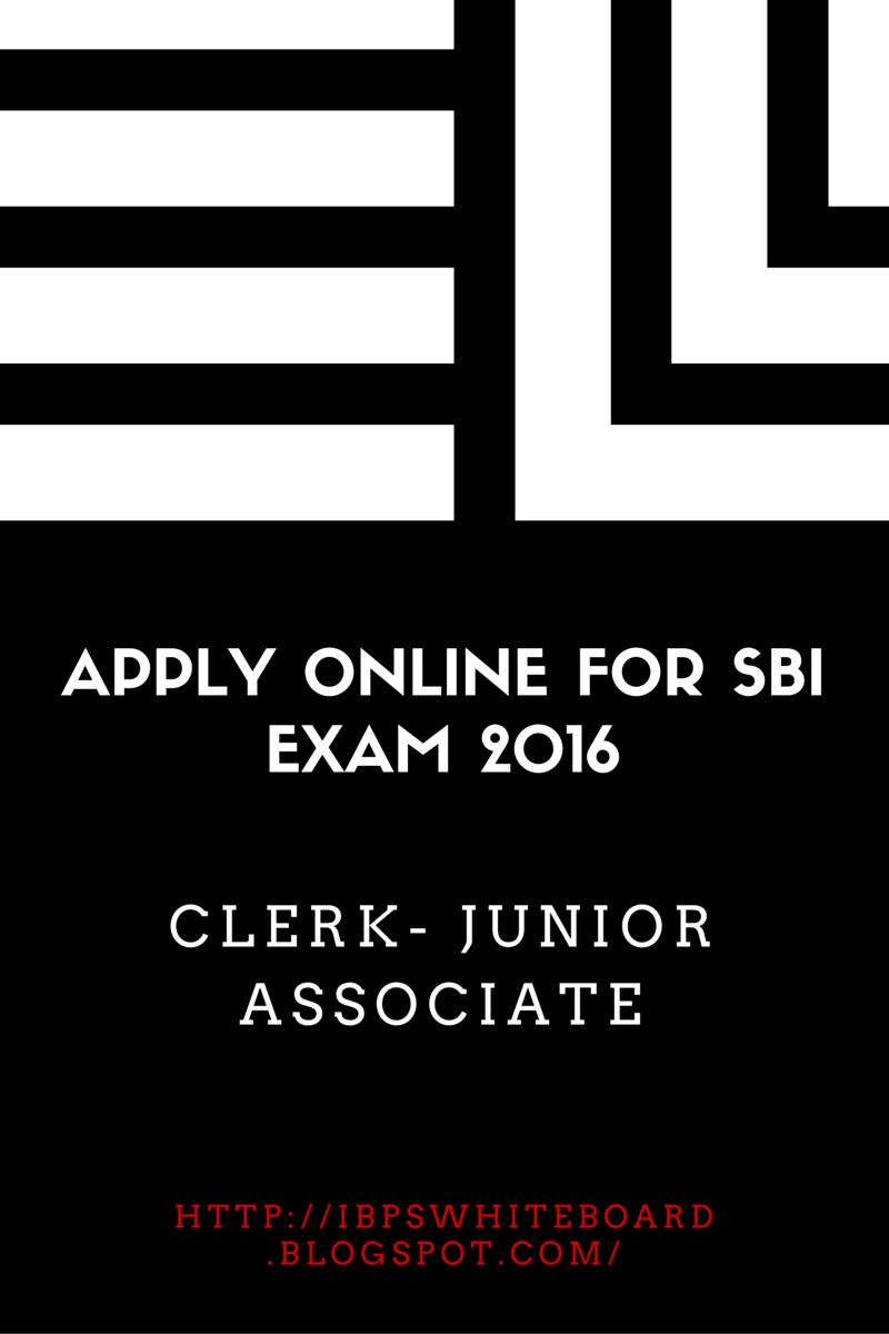 sbi clerk online apply