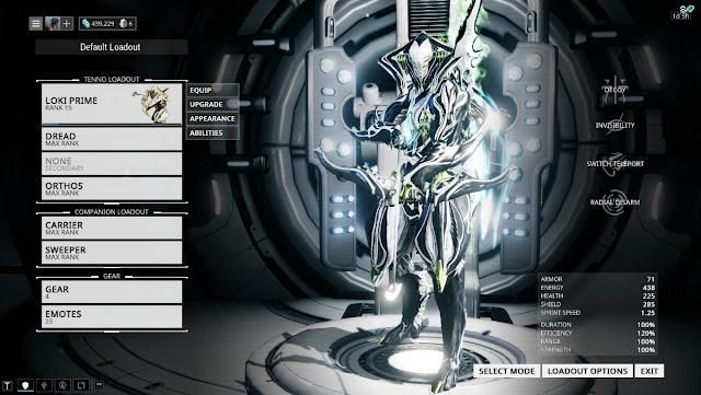 Waframe Loki Prime