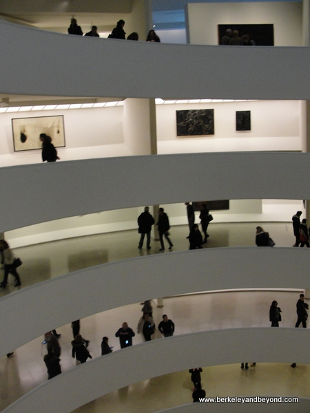 interior of Guggenheim Museum in NYC
