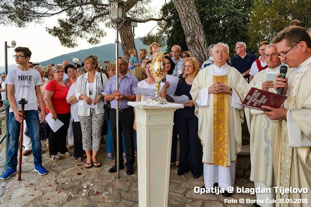 Blagdan Tijelovo i blagoslov mora i barki u Opatiji