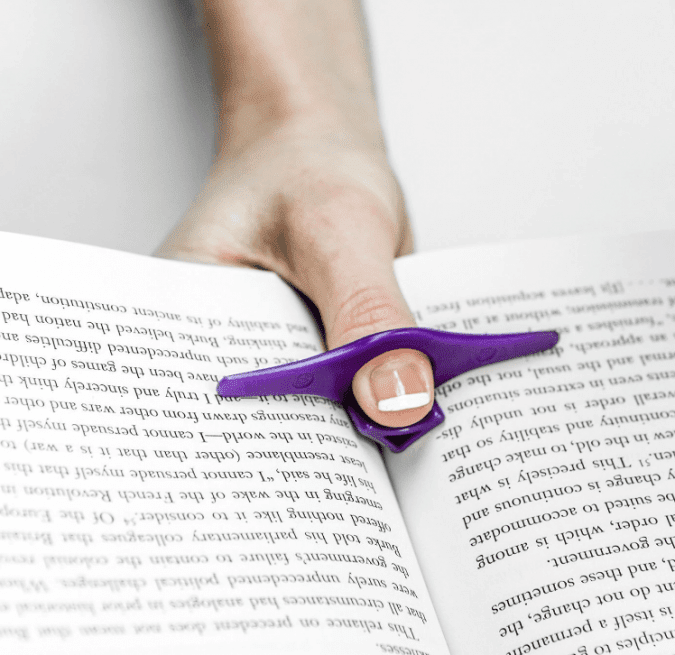 36 Genius Yet Inexpensive Products That Can Save Lives - The Thumb Thing Is Perfect for Bookworms