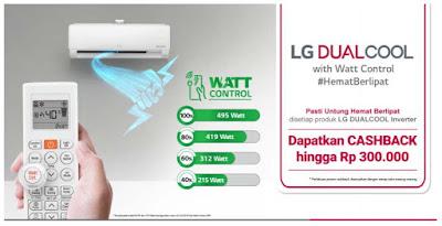Macam-macam tipe AC LG DUALCOOL with Watt Control yang Membuat Tagihan Listrik Anda #HematBerlipat