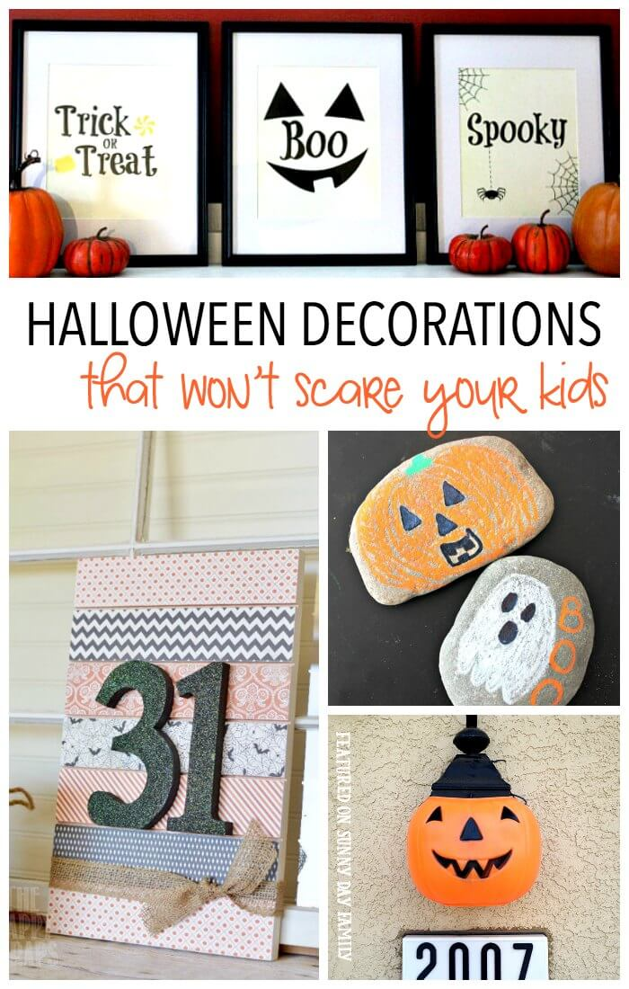 Cute Halloween decorating ideas that are kid friendly and mom approved! Printables, crafts, DIY projects and accent pieces that will give you the cutest Halloween house on the block!