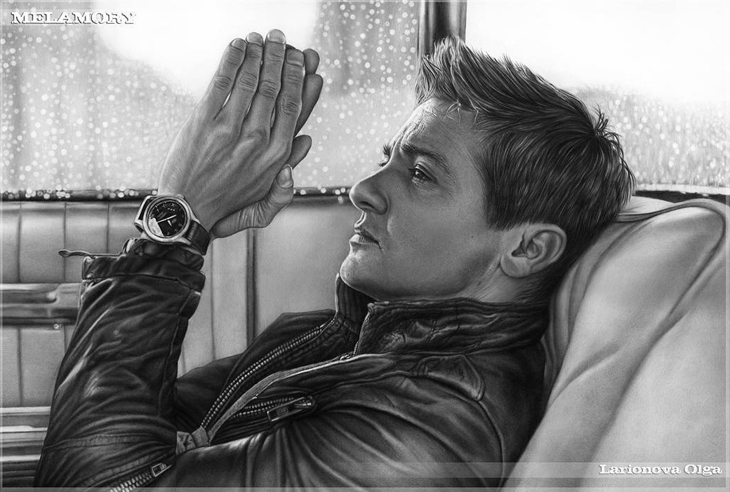 09-Jeremy-Renner-Olga-Larionova-Melamory-Realistic-Black-and-White-Portraits-of-Celebrities