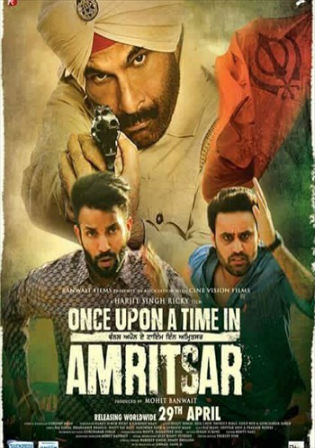 Poster of Watch Online Once Upon A Time in Amritsar 2016 DVDRip 700MB Punjabi Movie ESubs free Download bolly4u