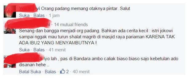 Kedatangan Jokowi ke Padang dicuekin