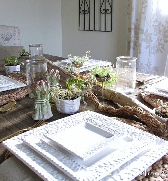 Creative and rustic table setting