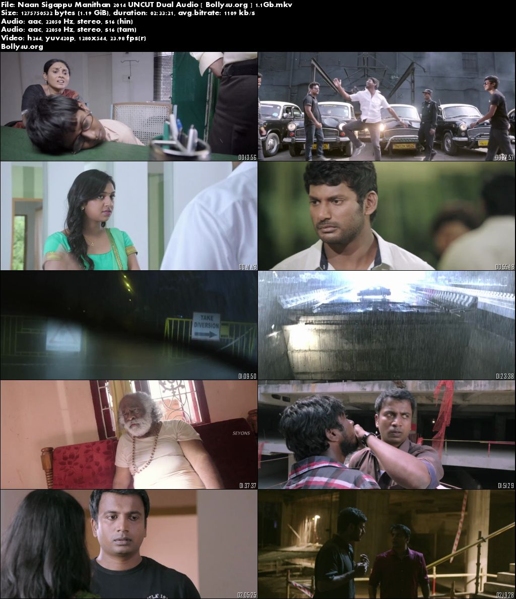 Naan Sigappu Manithan 2014 BluRay Hindi 720p UNCUT Dual Audio 1.2GB