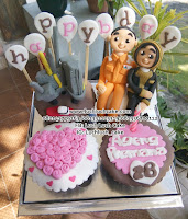 Cupcake Pink Anniversary Lucu dan Murah
