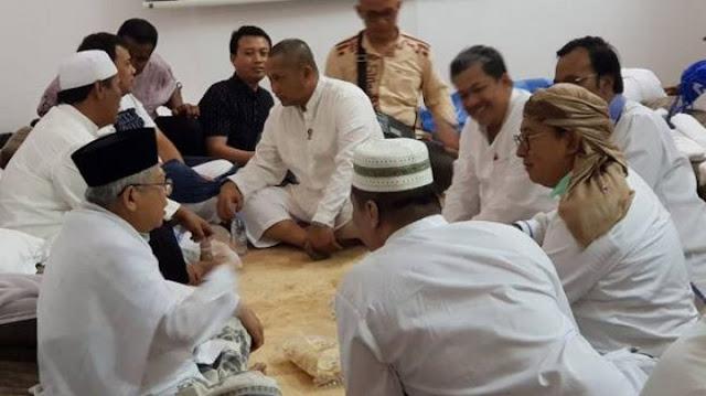 Fahri Hamzah dan Fadli Zon Bertemu Ma'ruf Amin di Mina
