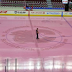 Saddledome Ice Goes Pink