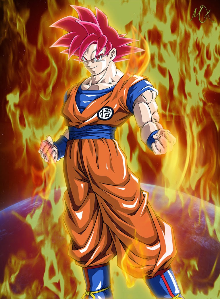 Gambar Son Goku Super Saiyan God