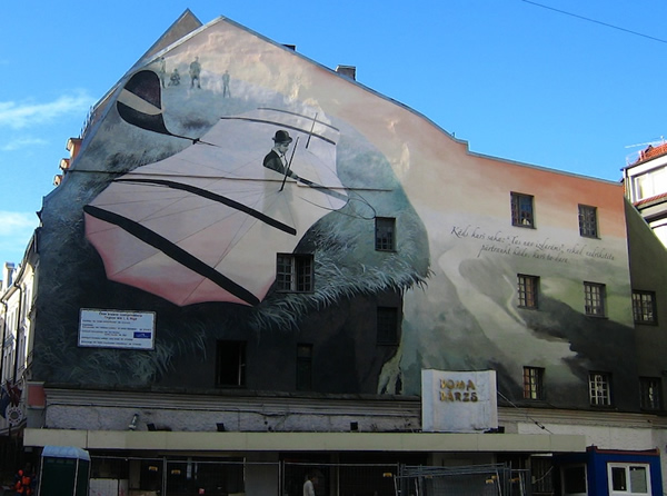 Wall Painting in Riga