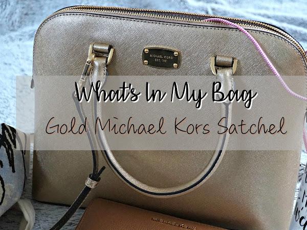 What's In My Bag | Gold Michael Kors Satchel