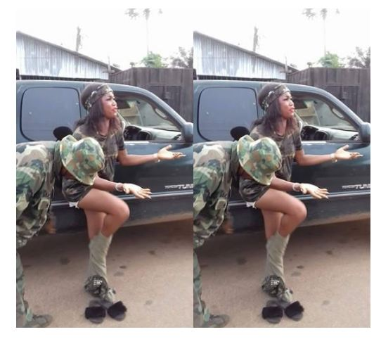 !8+: Nigerian Lady Str!pped By Soldiers For Wearing Camouflage [See Photos+ Download Video]