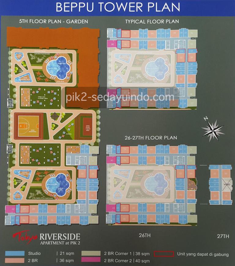 BEPPU Tower Site Plan Apartemen PIK 2