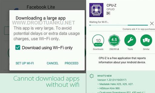 HP Xiaomi Tidak Bisa Download di Google Playstore dan Muncul Tulisan Downloading a Large App