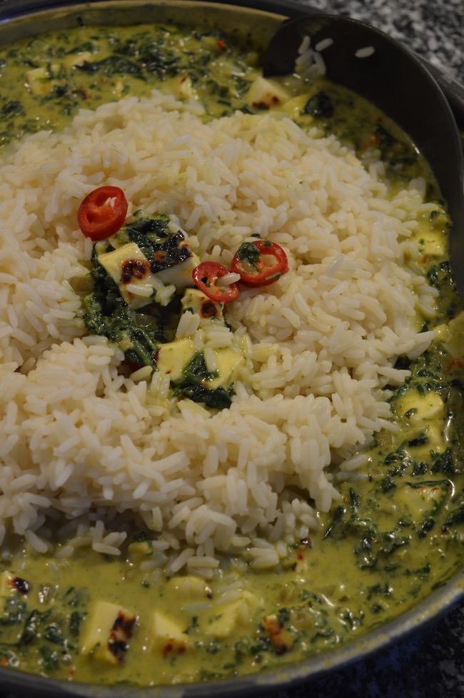 palak paneer, kasvisruoka, curry, intialainen, arkiruoka