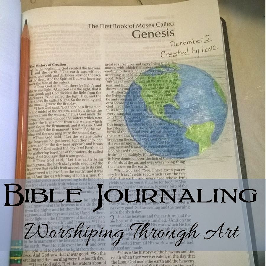 Bible Journaling Worshiping Through Art