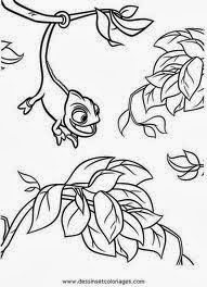 Disney tangled coloring pages pascal ~ Tangled Coloring Pages Pascal - Rapunzel