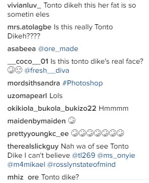 Tonto Dikeh is that really you?