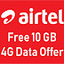 Airtel giving free 10 GB 4G data | Airtel Free internet offer