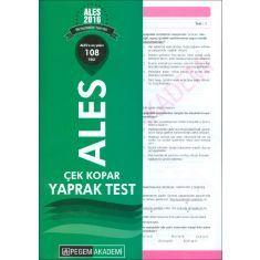 Pegem Akademi ALES Çek Kopar Yaprak Test (2016)