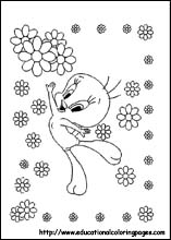 """Tweety bird valentine day coloring pages ~ Cartoon Design: Tweety Coloring Pages """"Happy Valentine Day"""""""