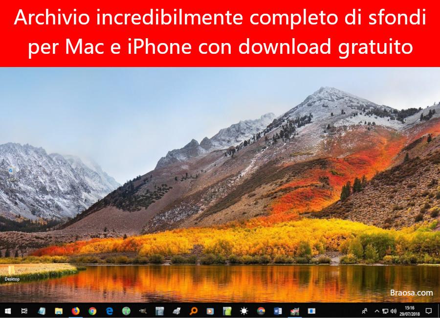 Archivio completo di sfondi per Mac e iPhone con download gratuito