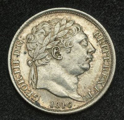 British Coins Silver Sixpence Coin Of 1816 King George