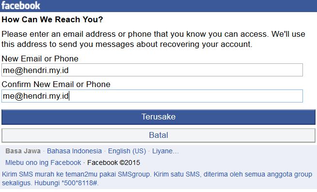 Cara membuka facebook yang lupa email dan kata sandi ber for Input keyword disini perbaris ya