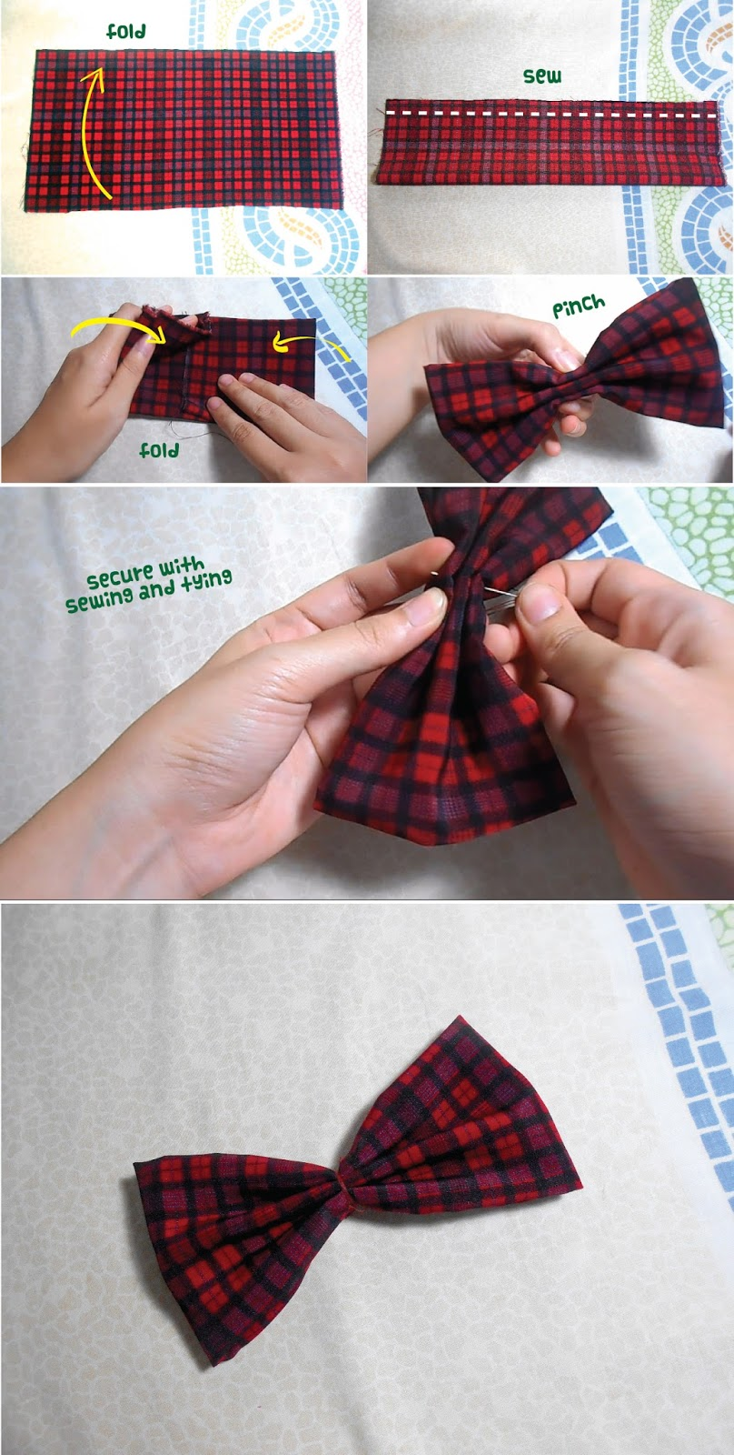 Anime School Girl Bow Tie DIY - main bow