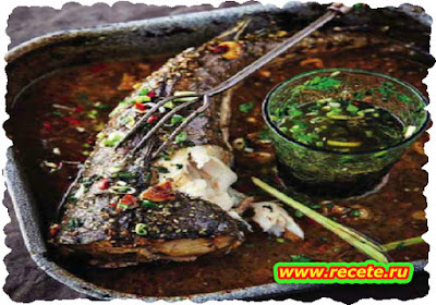 Baked hake in Thai marinade