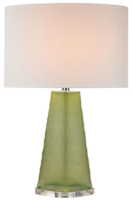 Frosted Green Glass Table Lamp